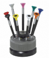 Rotating 9 Screwdriver Set bergeon N° 7899 -S09 tournevis sur socle tournant